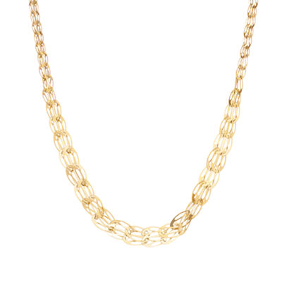 10K Gold 18 Inch Solid Link Chain Necklace
