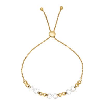 Womens 10K Gold Bolo Bracelet