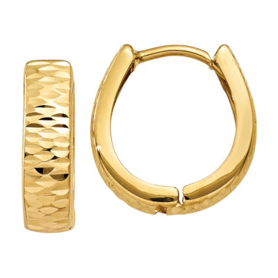 14K Gold 12mm Hoop Earrings