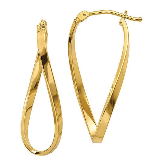 Made In Italy 14K Gold 9mm Hoop Earrings