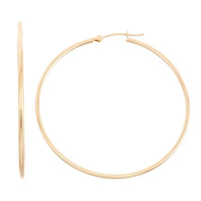 14K Gold 45mm Hoop Earrings