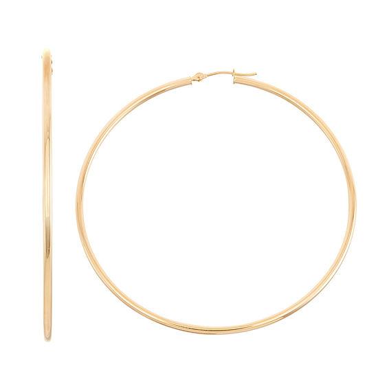 14K Gold 45mm Hoop Earrings
