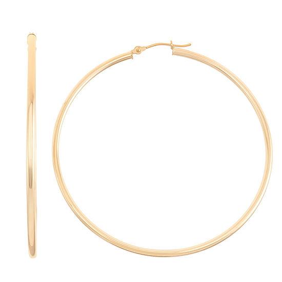 14K Gold 65mm Hoop Earrings