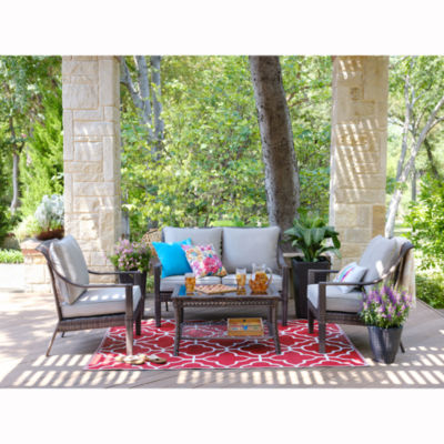 Outdoor Oasis Latigo Wicker 4-pc. Conversation Set