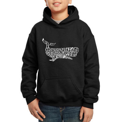 Los Angeles Pop Art Boy's Word Art Hooded Sweatshirt - Humpbk