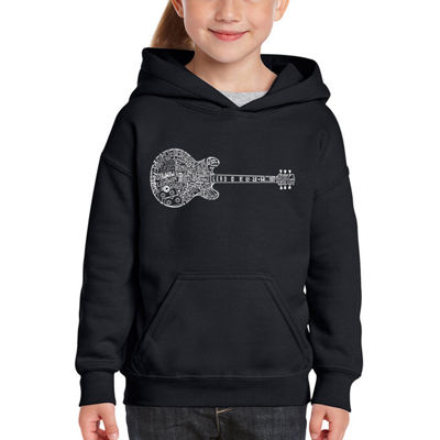 Los Angeles Pop Art Girl's Word Art Hooded Sweatshirt - Blues Legends