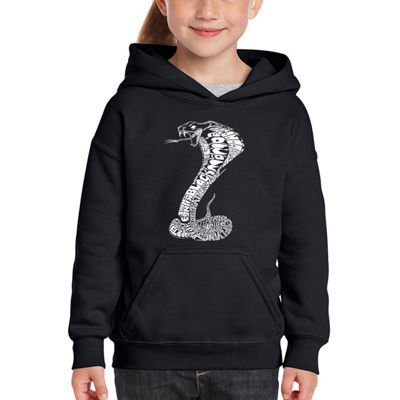 Los Angeles Pop Art Girl's Word Art Hooded Sweatshirt - Tyles of Snakes