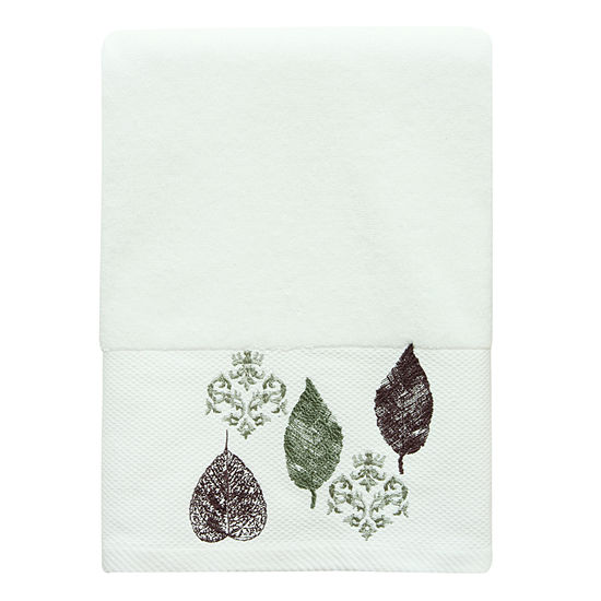 Bacova Guild Seville Embellished Leaf Bath Towel
