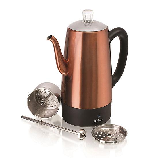 Euro Cuisine PER12 Electric Coffee Percolator - 12 Cups