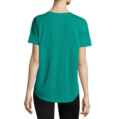 Xersion V-Neck Mesh Sleeve Tee - Tall