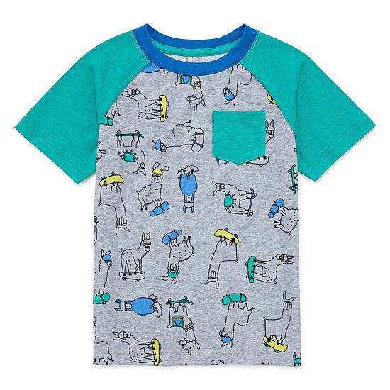 Okie Dokie Toddler Boys Round Neck Short Sleeve Graphic T-Shirt