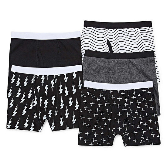 Okie Dokie Boys 5 Pair Boxer Briefs Toddler