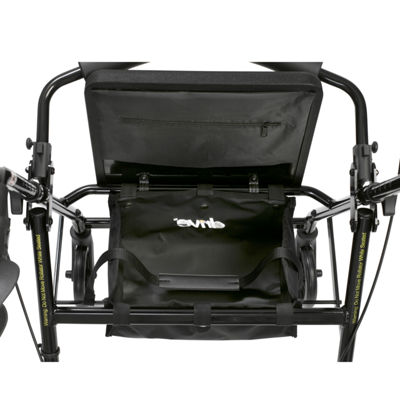 "Walker Rollator with 6"" Wheels, Fold Up Removable Back Support and Padded Seat"