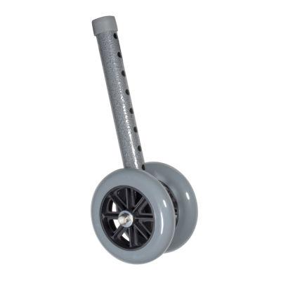"Heavy Duty Bariatric Walker Wheels, 5"", 1 Pair"