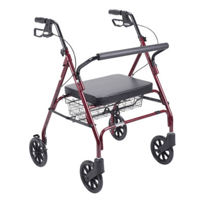 Heavy Duty Bariatric Walker Rollator with Large Padded Seat