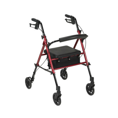"Adjustable Height Rollator with 6"" Wheels"