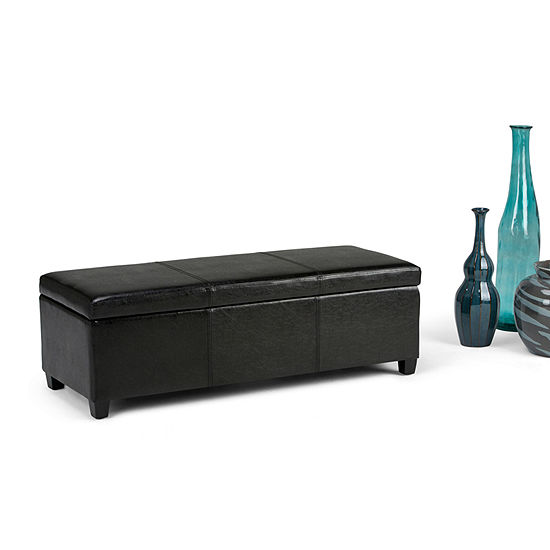 Avalon Large Storage Ottoman Bench