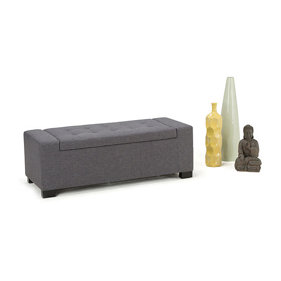 Laredo Large Storage Ottoman Bench