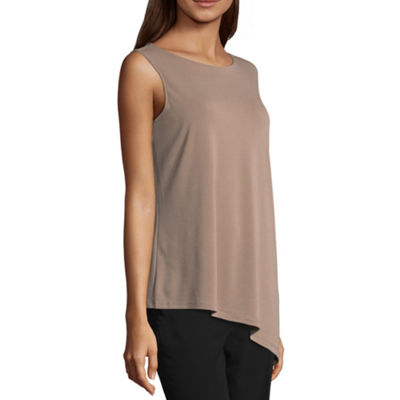 Worthington Short Sleeve Crew Neck Knit Blouse