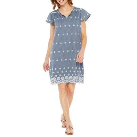 St. John's Bay Eyelet Dress - Tall
