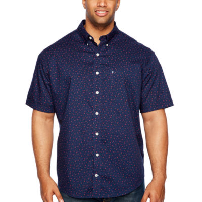 IZOD Printed Sunglasses Breeze Shirt Mens Short Sleeve Cooling Button-Front Shirt Big and Tall