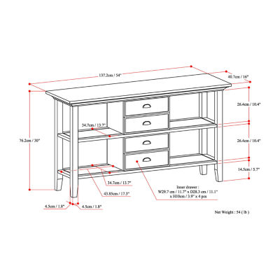 Redmond Console Sofa Table