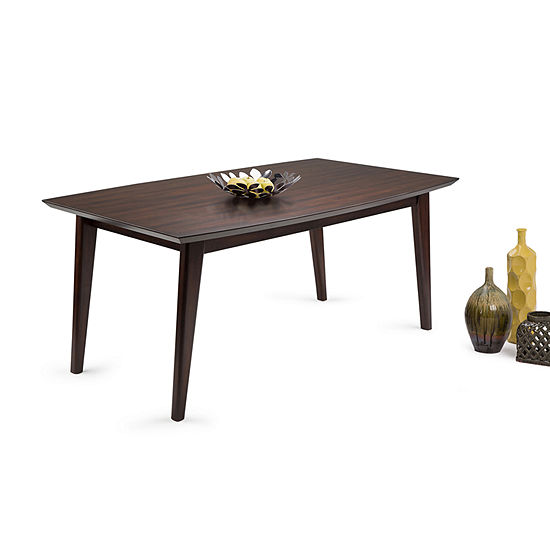 Draper Mid Century 66 X 40 Inch Rectangle Dining Table