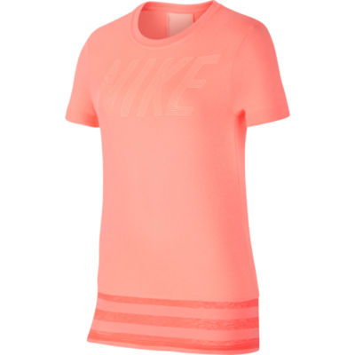 Nike Short Sleeve Crew Neck T-Shirt-Big Kid Girls