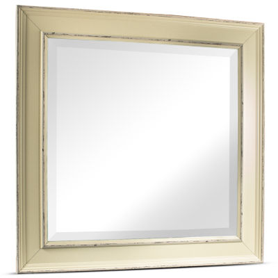 Camden Square Antiqued Framed Beveled Wall Mirror