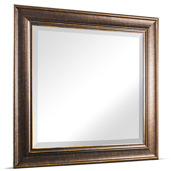 Bentley Square Framed Beveled Wall Vanity Mirror