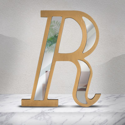 Wall Letter with Acrylic Mirror Hanging Initial