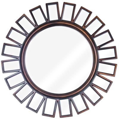 Framed Wheel Wall Vanity Mirror