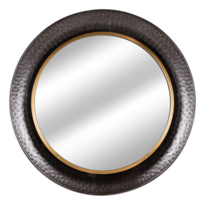 Millennium Art Round Concave Metal Framed Wall Mirror