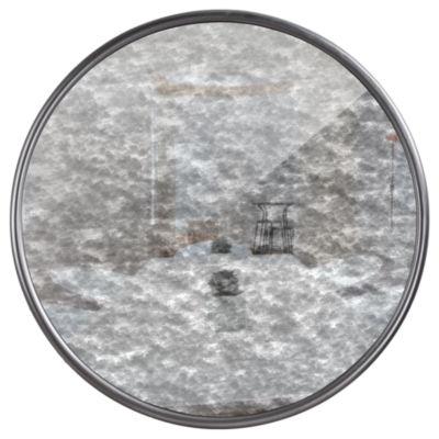 Millennium Art Round Antiqued Framed Wall Mirror