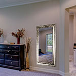Lena Large Rectangular Antiqued Framed Beveled Wall Mirror