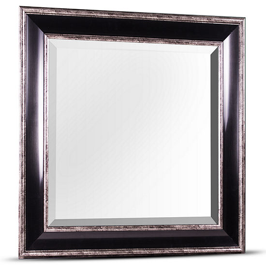"""Hartley Antiqued Square Framed Wall/Vanity Mirror"