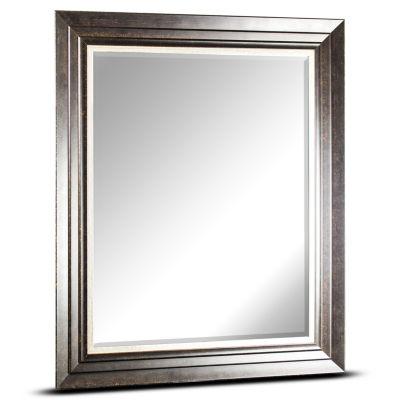 Camden Large Rectangular Espresso Accent Framed Beveled Wall/Vanity Mirror
