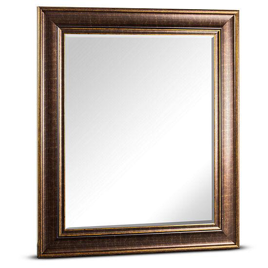 Bentley Rectangular Beveled Framed Wall Mirror
