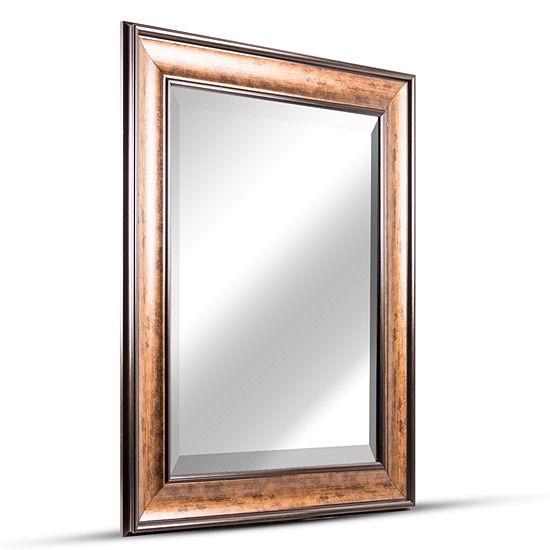 Hartley Medium Rectangular Accent Framed Beveled Wall/Vanity Mirror