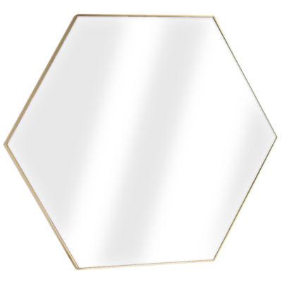 Millennium Art Framed Hexagon Wall Vanity Infinity Mirror
