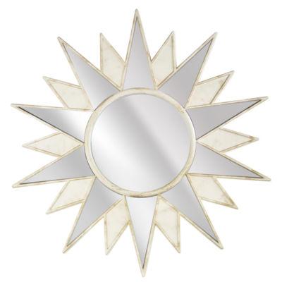 Millennium Art Framed Art Deco Sunburst Starburst Wall Vanity Mirror