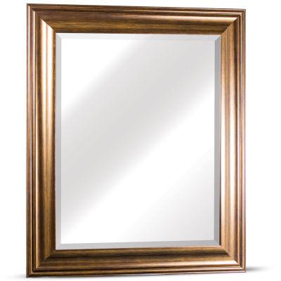 Lena Large Rectangular Framed Beveled Wall/Vanity Mirror
