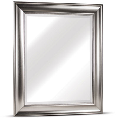 Clarence Medium Rectangular Textured Accent Framed Beveled Wall/Vanity Mirror