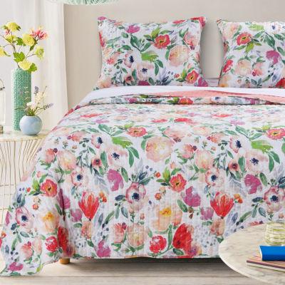 Barefoot Bungalow Blossom Floral Quilt Set