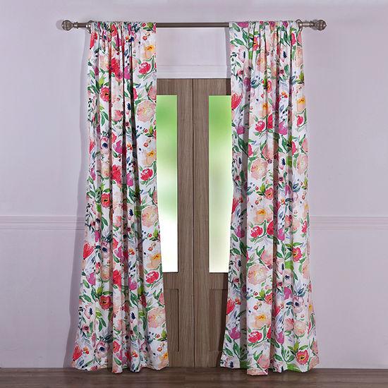 Barefoot Bungalow Blossom Rod-Pocket Curtain Panel
