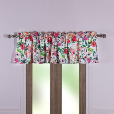Barefoot Bungalow Blossom Rod-Pocket Scallop Valance