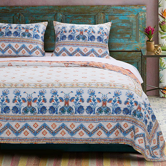 Barefoot Bungalow Aleena Reversible Quilt Set