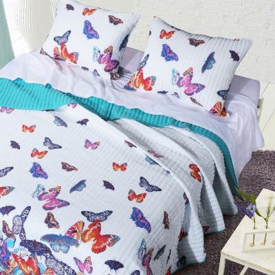 Barefoot Bungalow Mariposa Reversible Quilt Set