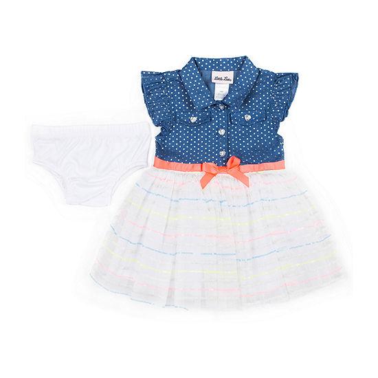 Little Lass Short Sleeve Tutu Dress - Baby Girls