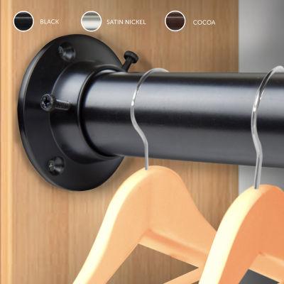Rod Desyne Closet 1 1/2 IN Curtain Rod